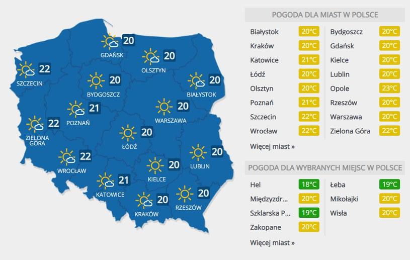 Prognoza pogody na niedzielę, 20 września /INTERIA.PL