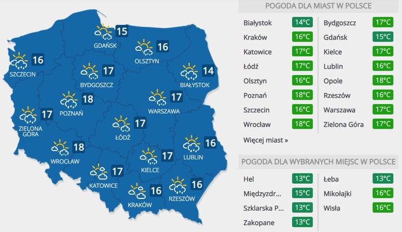Prognoza pogody na niedzielę, 24 maja /INTERIA.PL