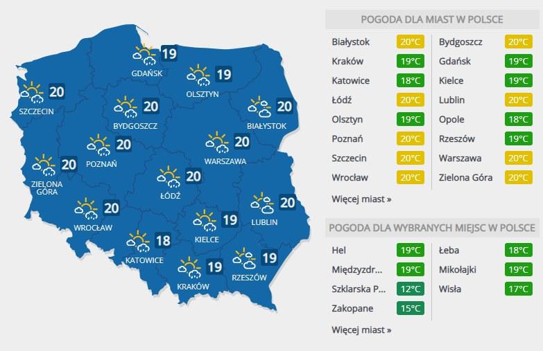 Prognoza pogody na niedzielę, 8 września /INTERIA.PL