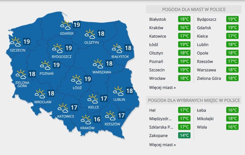 Prognoza pogody na piątek, 18 września /INTERIA.PL