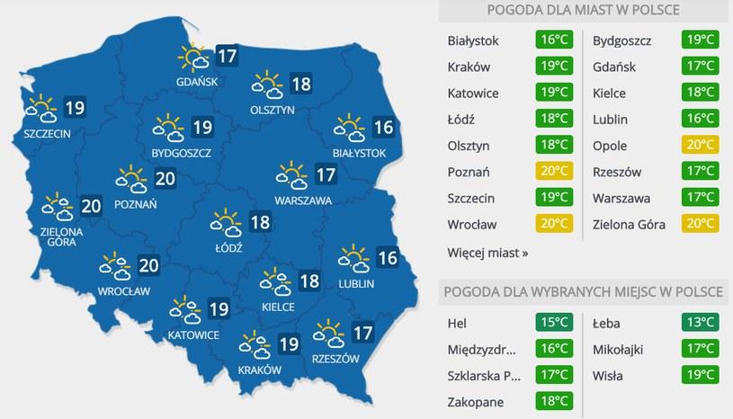 Prognoza pogody na piątek, 8 maja /INTERIA.PL
