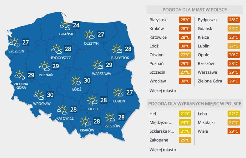 Prognoza pogody na poniedziałek, 10 czerwca /INTERIA.PL