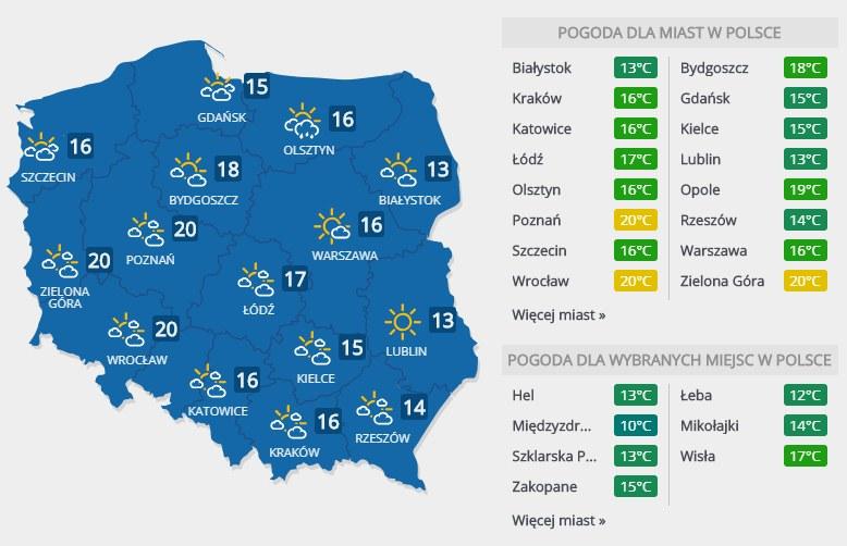 Prognoza pogody na sobotę, 23 marca /INTERIA.PL