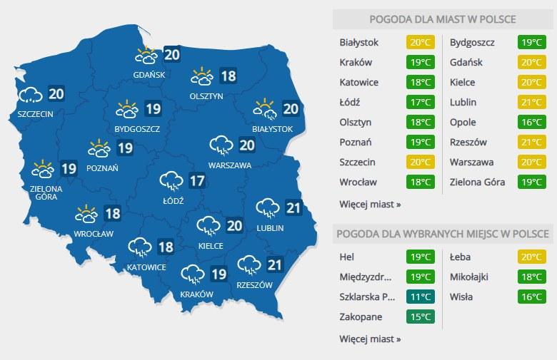Prognoza pogody na sobotę, 7 września /INTERIA.PL