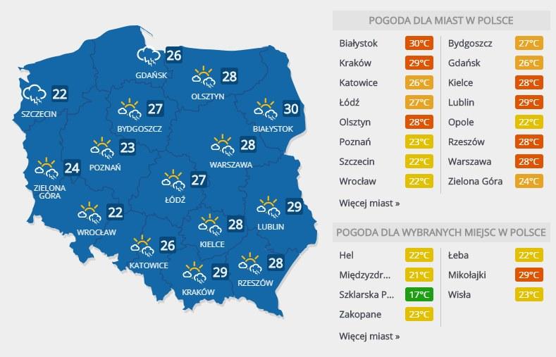 Prognoza pogody na sobotę, 8 czerwca /INTERIA.PL