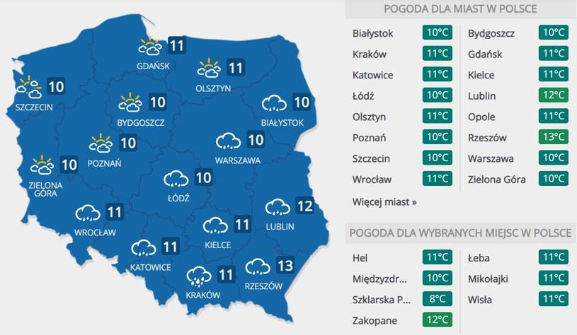 Prognoza pogody na środę, 4 listopada /INTERIA.PL