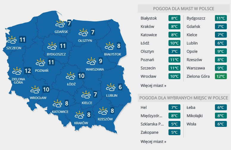 Prognoza pogody na wtorek, 26 lutego /INTERIA.PL