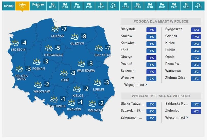 Prognoza pogody. /INTERIA.PL
