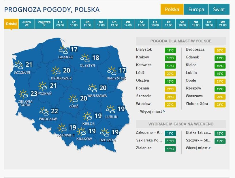 Prognoza pogody /INTERIA.PL