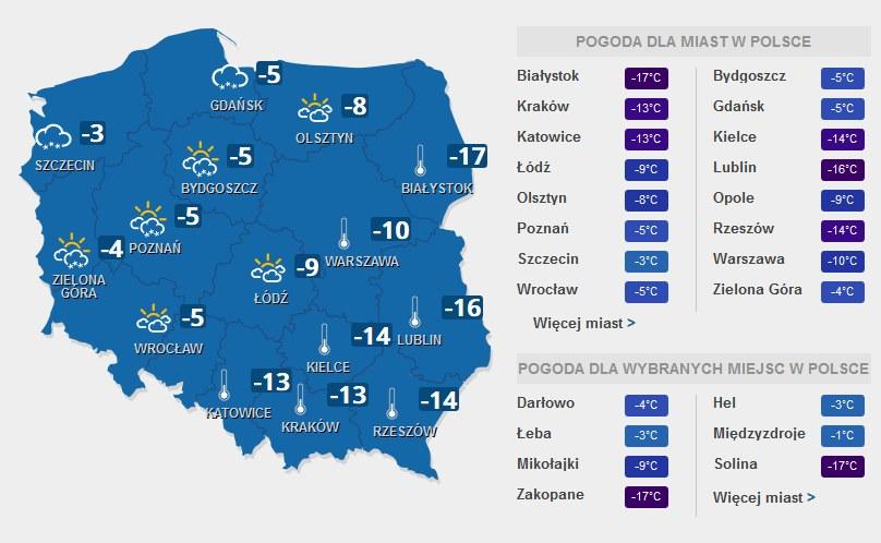 Prognozy na sobotę, 7 stycznia 2017 roku /INTERIA.PL