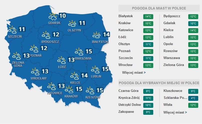 Prognozy pogody na niedzielę, 5 marca /INTERIA.PL