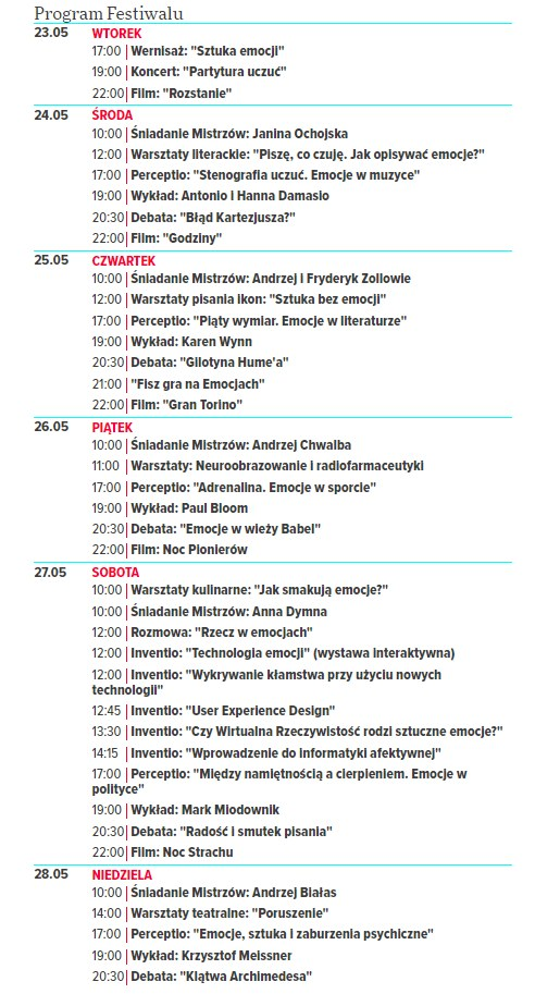 Program Copernicus Festival /