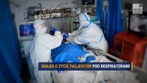 """Program """"Raport"""": """"Tak długo jak trzeba, tak krótko jak się da"""". Walka o życie pacjentów pod respiratorami"""