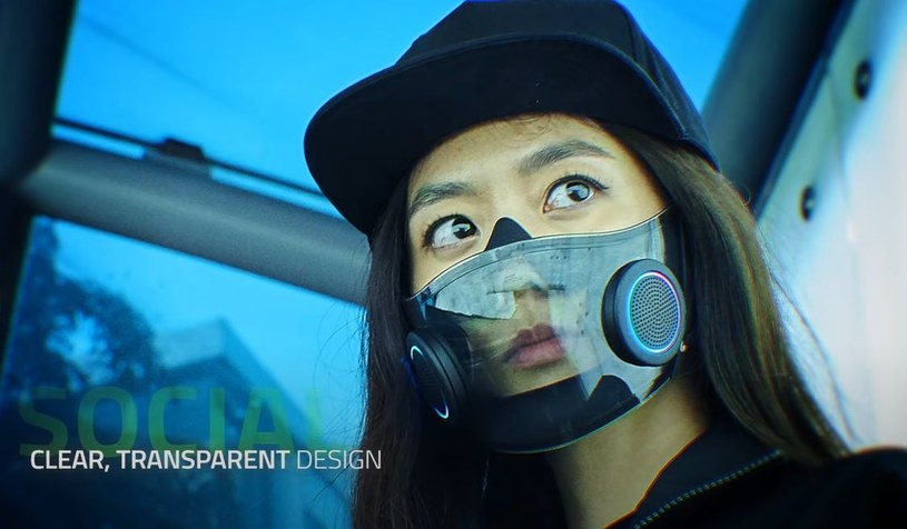 Project Hazel - maska ochronna ze wzmacniaczem dźwięku oraz podświetleniem  RGB - Nowe technologie w INTERIA.PL
