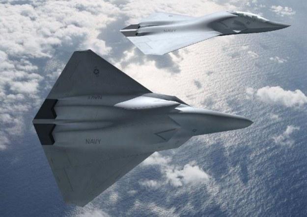 Projekt koncepcyjny koncernu Boeing samolotu F/A-XX.  Fot. Boeing /materiały prasowe