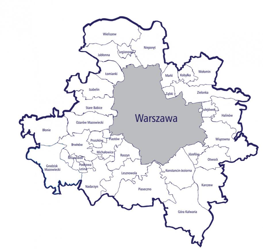 Projekt nie uwzględnia gminy Podkowa Leśna /UM Warszawa /RMF FM