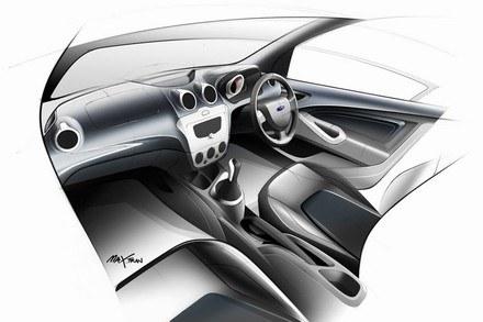 Projekt wnętrza forda figo /