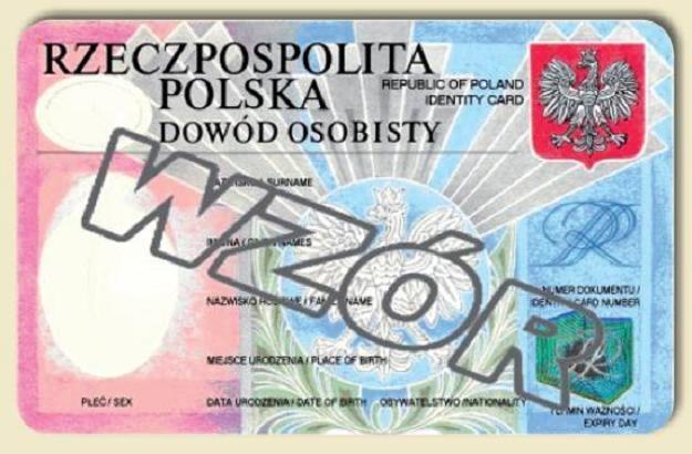 Projekt wzoru nowego dowodu osobistego wg www.mswia.gov.pl /INTERIA.PL
