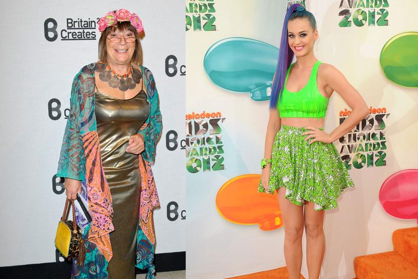 Projektanta mody (!) Hilary Alexander oraz Katy Perry nie ubrały się stosownie do wieku /Getty Images