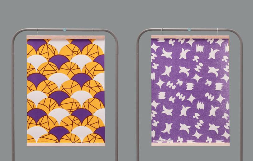 Projektantki swoje wzory nanoszą na różne powierzchnie np.: tekstylia, tapety, plakaty, obiekty /materiały prasowe