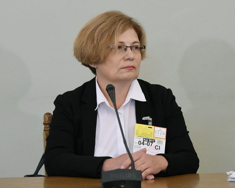 Prokurator Barbara Kijanko zeznaje przed sejmową Komisją śledczą ds. Amber Gold /Radek Pietruszka /PAP
