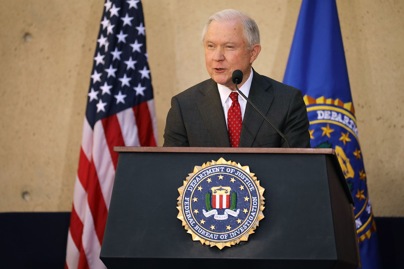 Prokurator generalny i minister sprawiedliwości USA Jeff Sessions /CHIP SOMODEVILLA / GETTY IMAGES NORTH AMERICA  /AFP