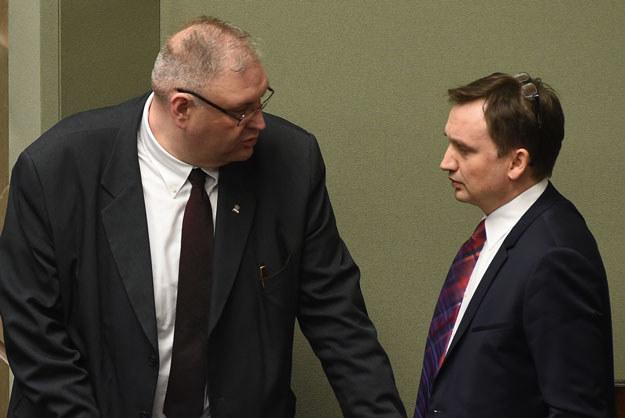 Prokurator Krajowy Bogdan Święczkowski i Prokurator Generalny Zbigniew Ziobro /Adam Chełstowski /Agencja FORUM