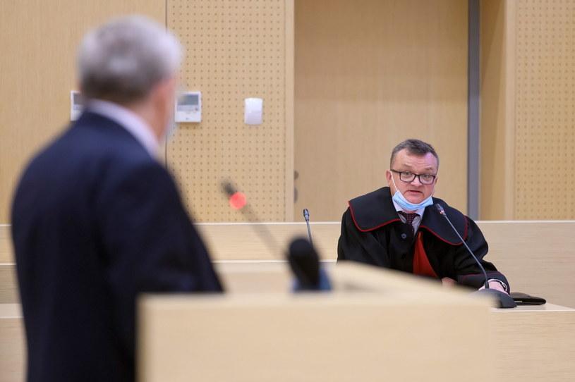 Prokurator Piotr Kosmaty na sali Sądu Okręgowego w Poznaniu /Jakub Kaczmarczyk /PAP