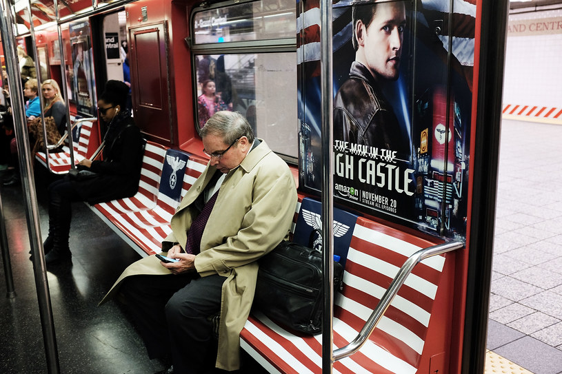 Promocja serialu w nowojorskim metrze. /Spencer Platt /Getty Images