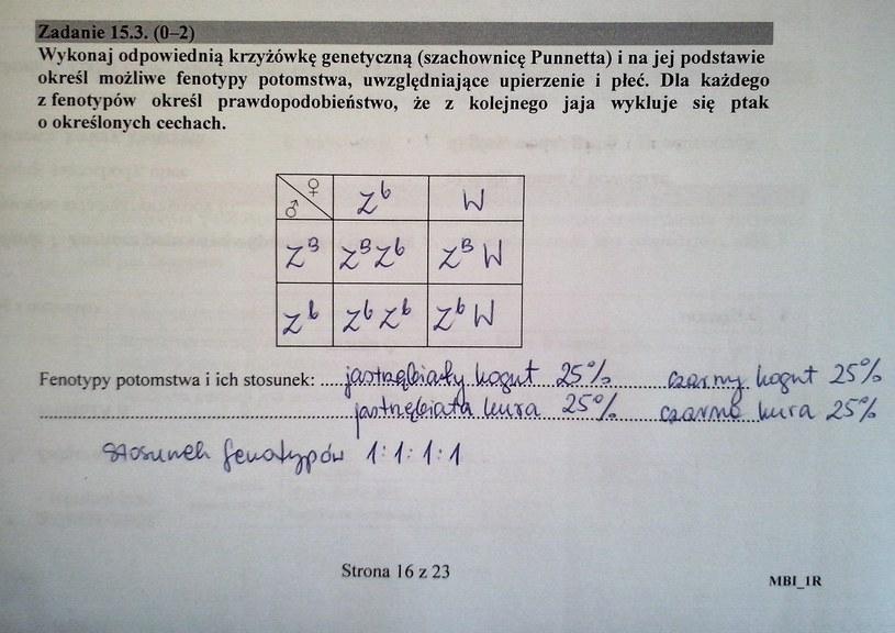 Proponowane rozwiązanie zad. 15.3 (str. 16) /CKE /INTERIA.PL