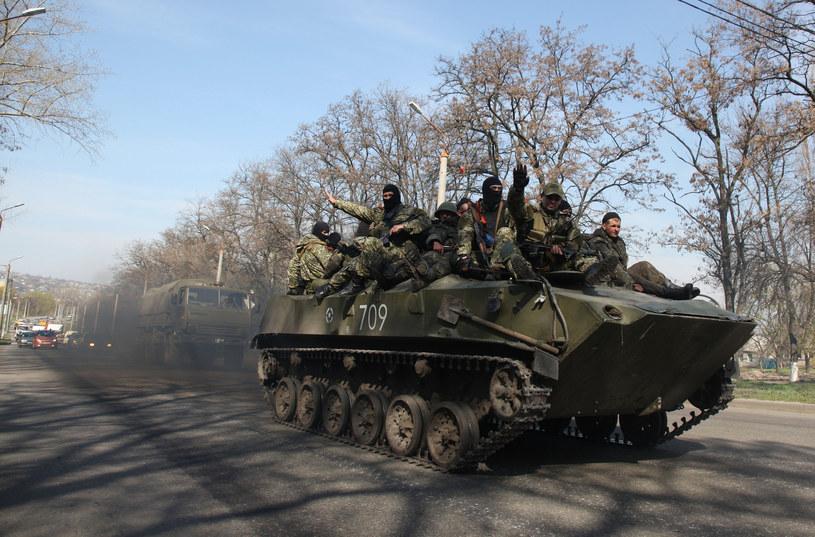 Prorosyjscy aktywiści w Kramatorsku /AFP