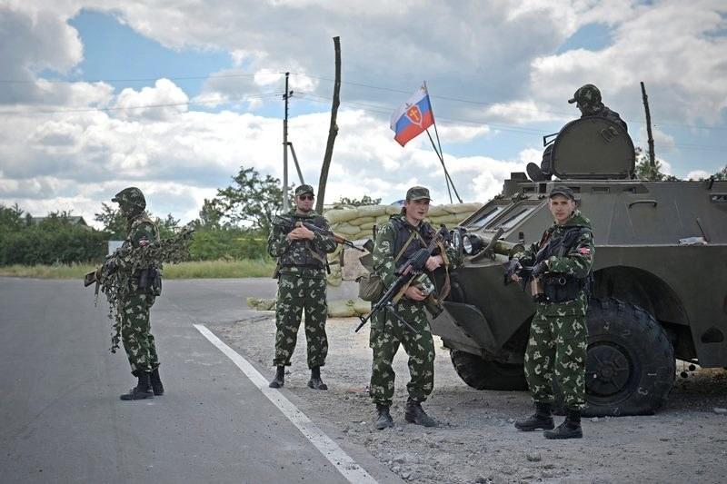 Prorosyjscy separatyści na Ukrainie /VALENTINA SVISTUNOVA /PAP/EPA