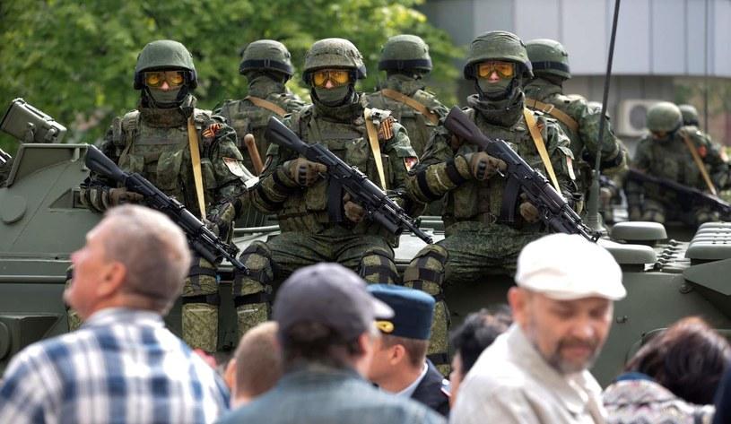 Prorosyjscy separatyści w Doniecku /AFP