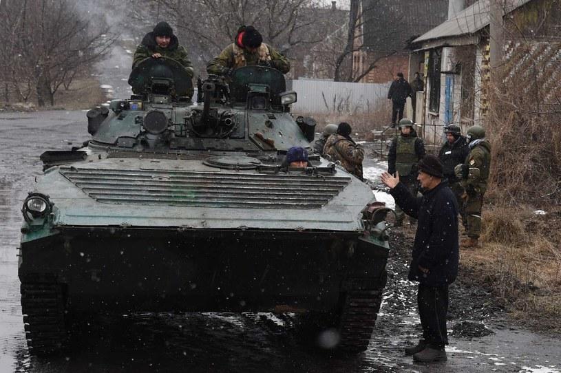 Prorosyjscy separatyści w pobliżu Debalcewa /AFP
