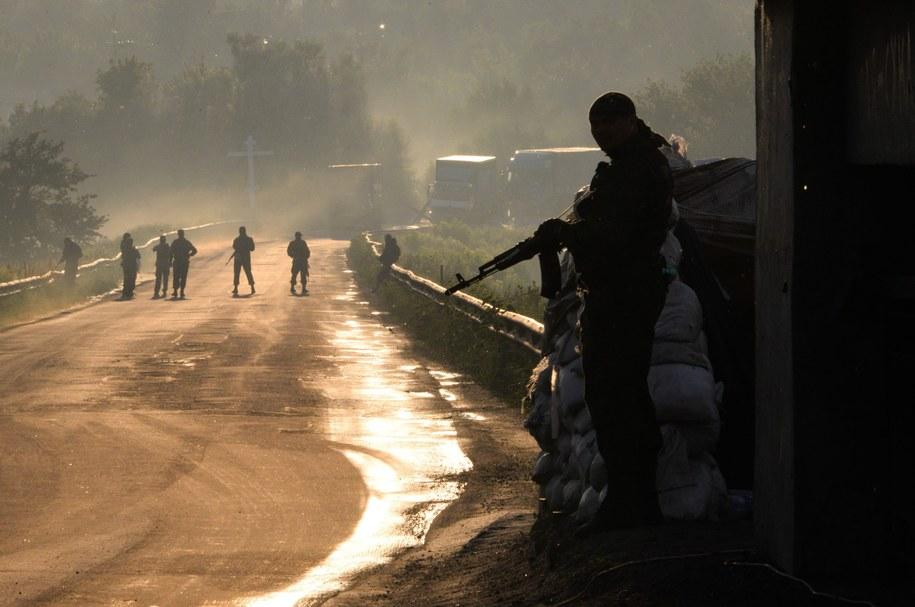 Prorosyjscy separatyści w pobliżu Doniecka /STRINGER /PAP/EPA