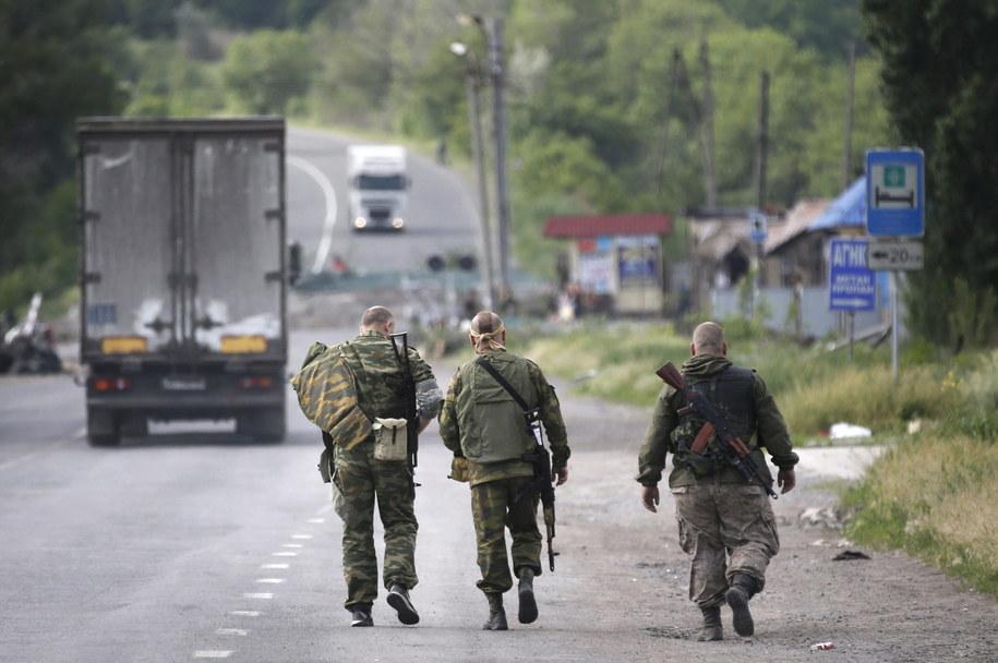 Prorosyjscy separatyści w rejonie Doniecka /MAXIM SHIPENKOV    /PAP/EPA