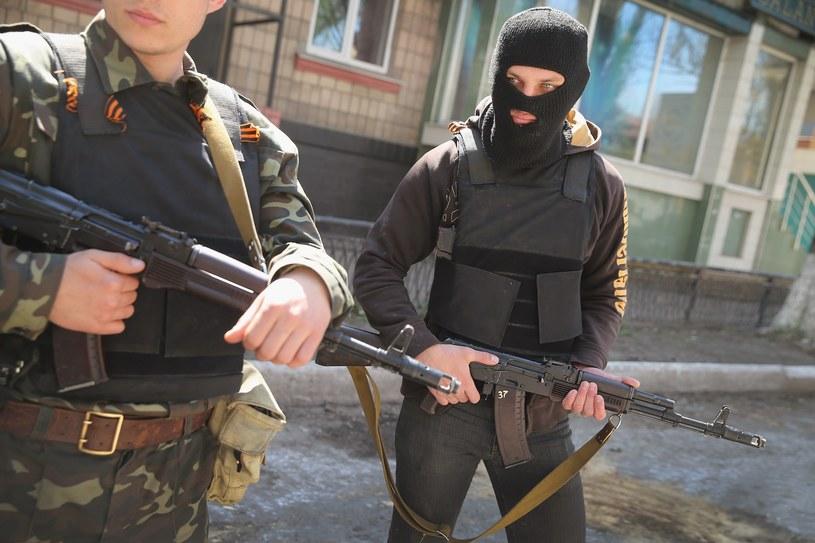 Prorosyjscy separatyści w Słowiańsku /AFP