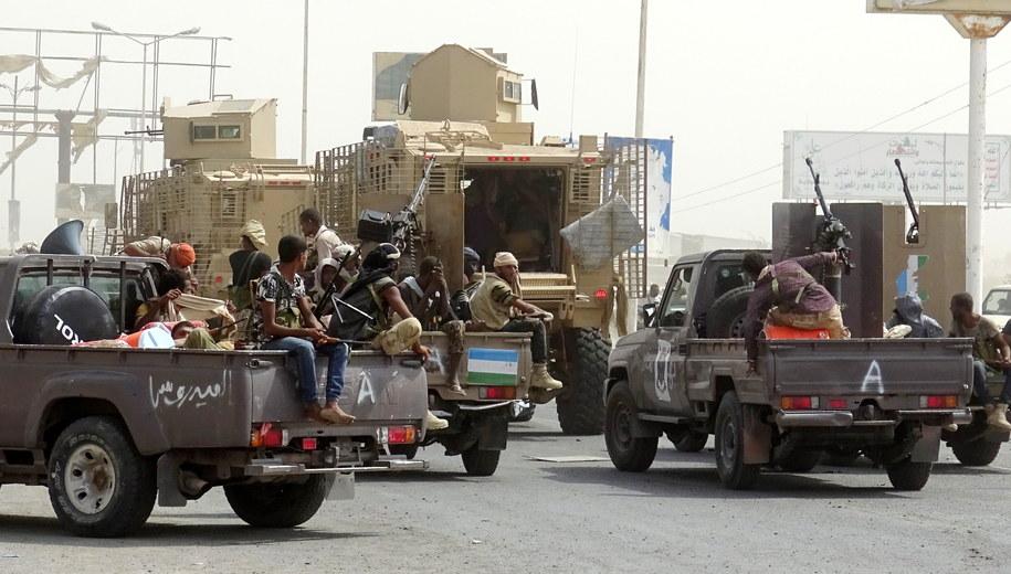 Prorządowe siły w Jemenie /STRINGER /PAP/EPA