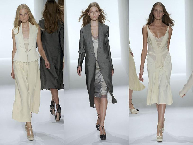 Proste sukienki Calvina Kleina inspirowane bielizną /East News/ Zeppelin