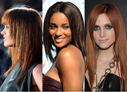 Proste włosy preferują: Christina Ricci, Ciara, Ashlee Simpson /Getty Images/Flash Press Media