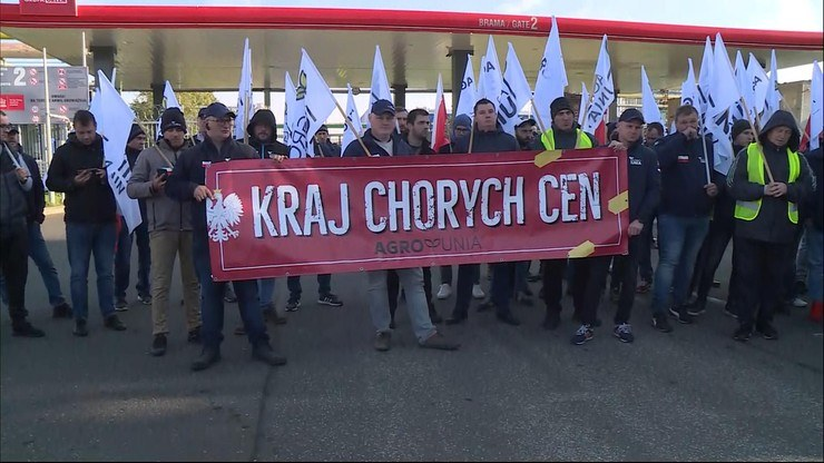 Protest AgroUnii /Polsat News