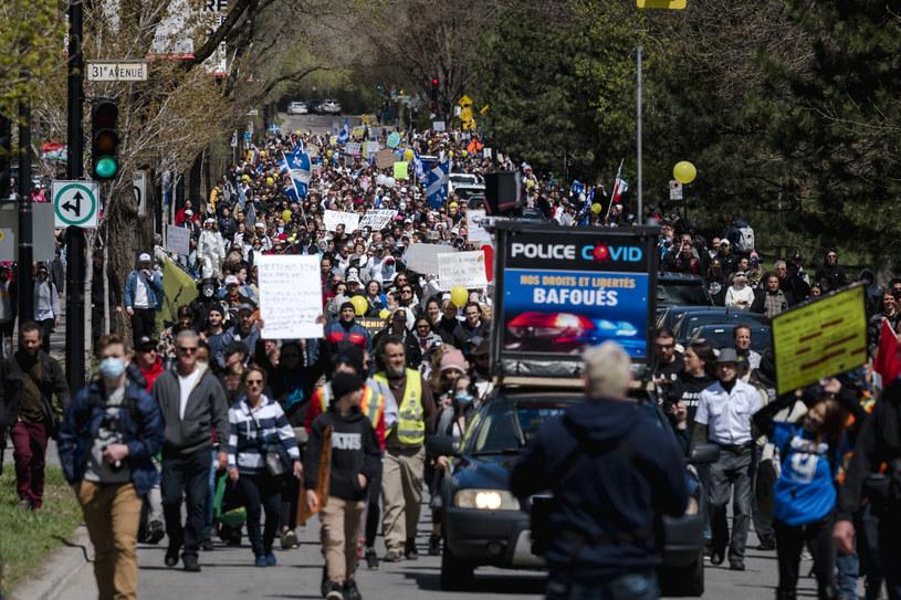 Protest antyszczepionkowców w Quebec będzie chronił szpitale i szkoły przed antyszczepionkowcami /AFP
