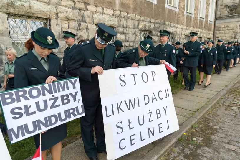 Protest celników /Robert Stachnik /Reporter