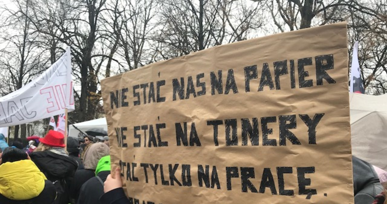 Protest cywilnych pracowników sądów i prokuratur
