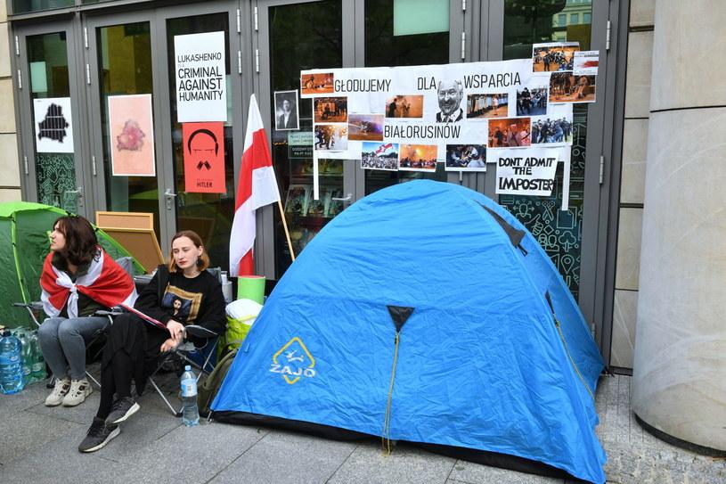 Protest głodowy Białorusinek /Radek  Pietruszka /PAP