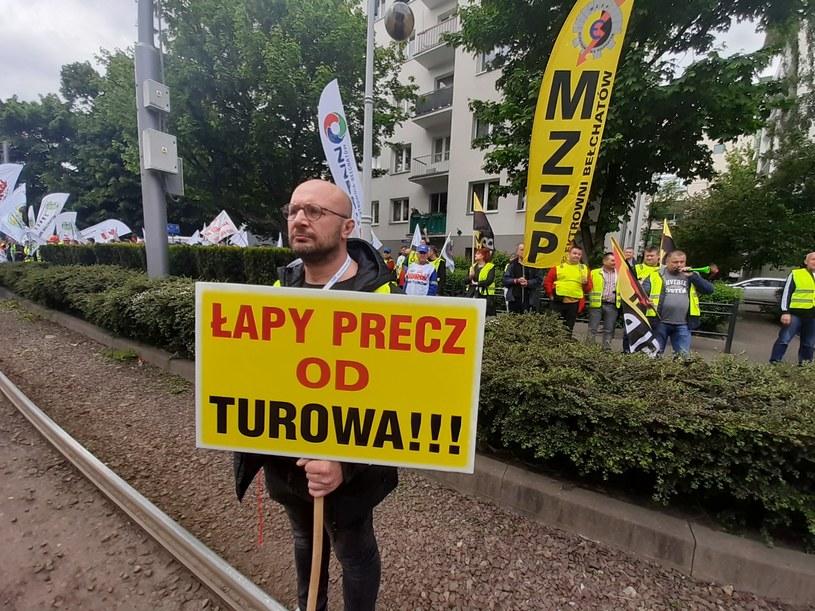 Protest górników z kopalni Turów /Jarosław Jakubczak / Polska Press /Getty Images