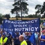 Protest hutników – nie zgadzają się na wygaszenie wielkiego pieca w Krakowie