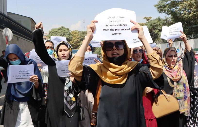 Protest kobiet w Afganistanie /STRINGER /PAP/EPA