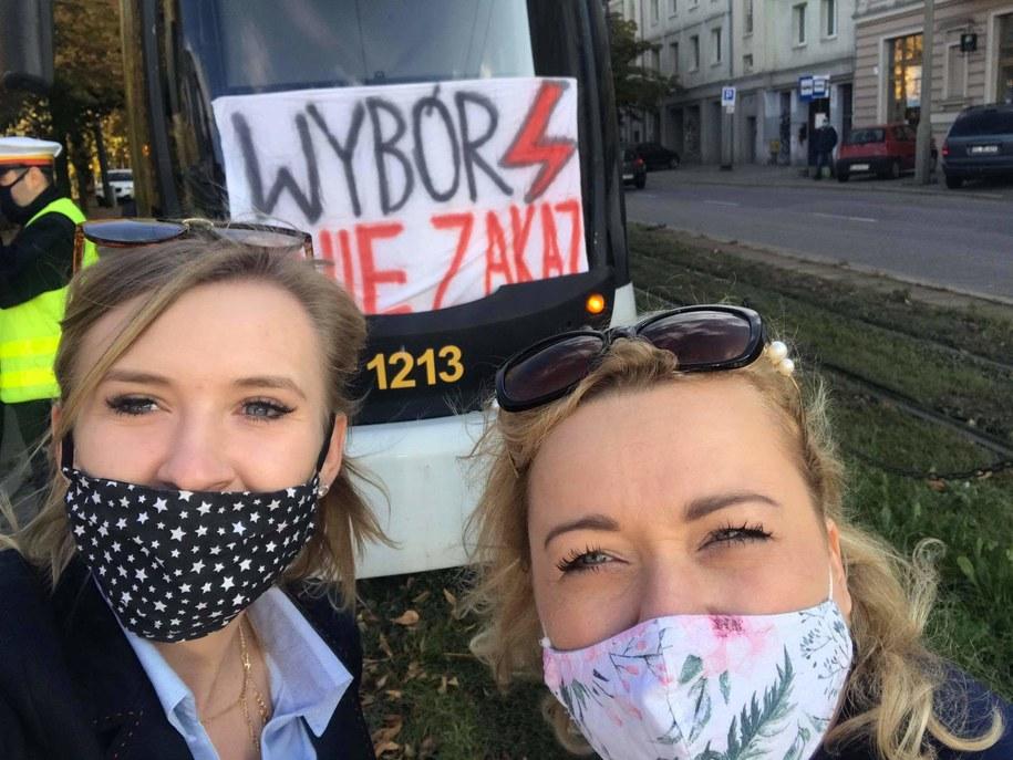 Protest łódzkich motorniczych /Magdalena Grajnert /RMF FM