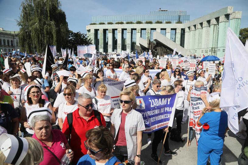 Protest medyków w Warszawie /Pawel Wodzynski /East News
